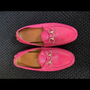 Gucci pink loafers